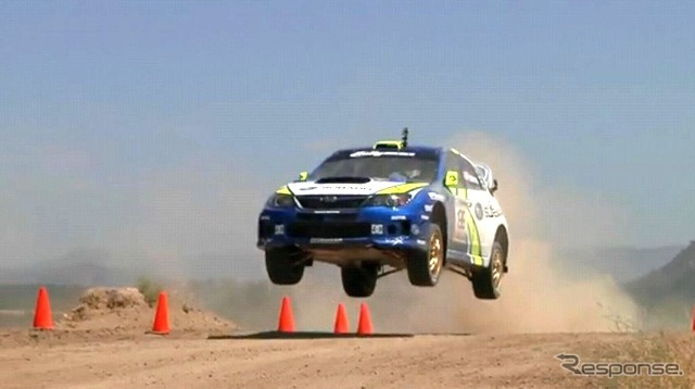 Impreza WRXSTI X Games 16 test (video capture)