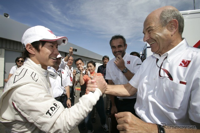 Kamui Kobayashi and Peter Sauber
