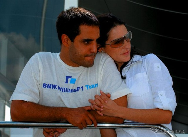 Montoya and his wife Connie