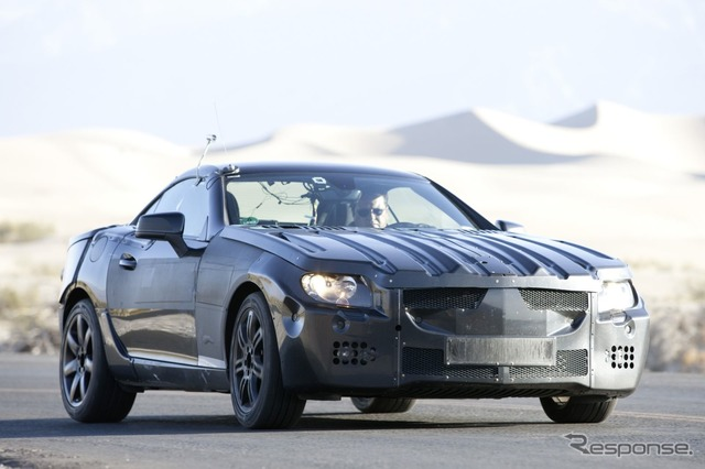 The next-generation Mercedes-Benz SLK testcar