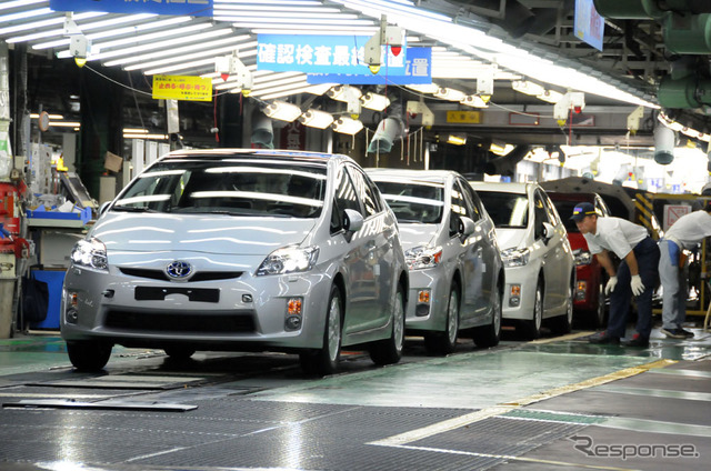 Effect domestic automobile production in October, eco-car supplementary gold closed at minus 12 months ( pictures Toyota Prius )