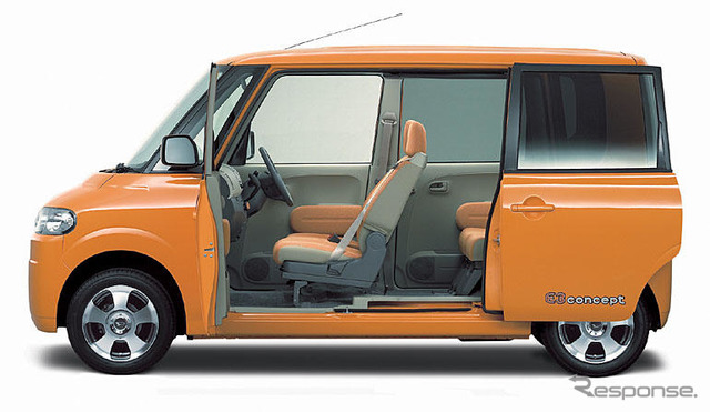 [Tokyo show 2003 vehicles] concept of Daihatsu' E3'---struggled to Raum light frame