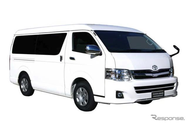 """Corpo de auto Toyota vai vender """"Hiace veículos especiais"""" adicionados para a porta direita slide"""