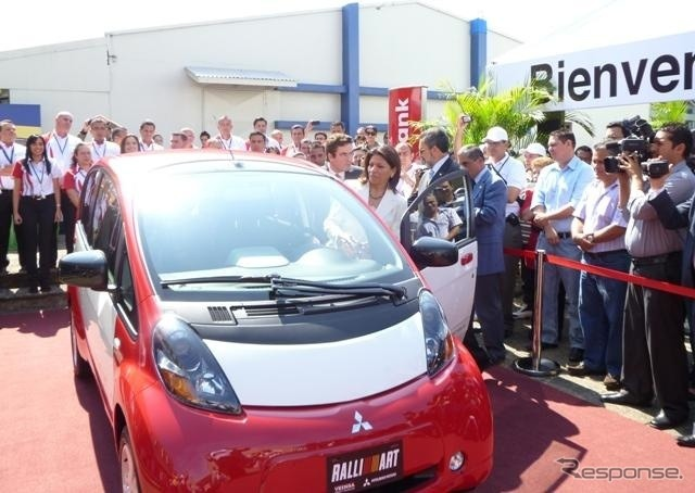 I-Miev Sales opening ceremony at Costa Rica