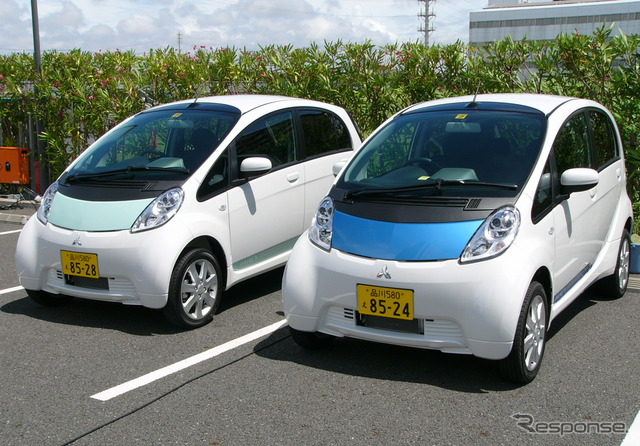 ฉัน-Miev รถยนต์ไฟฟ้าถ้ามีการใช้พลังงานจากการชาร์จเป็นไปได้ของ mains