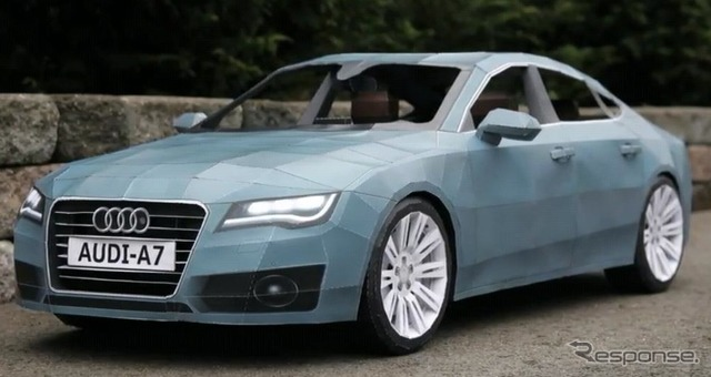 Audi A7 papercraft productions