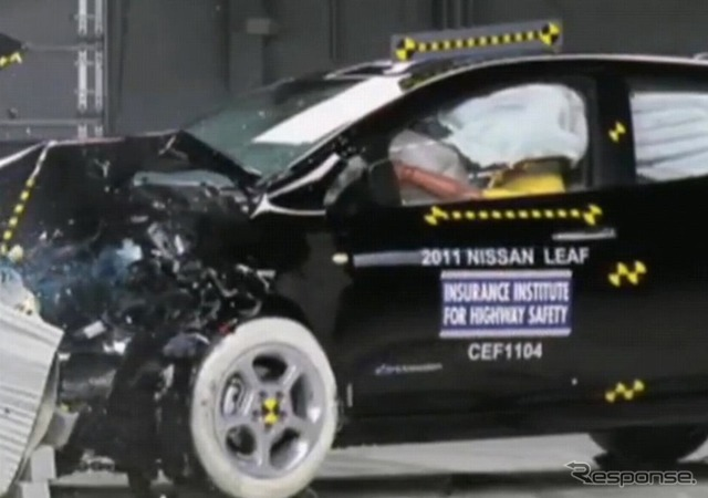 Collisioin safety testing in the Nissan leaf, United States