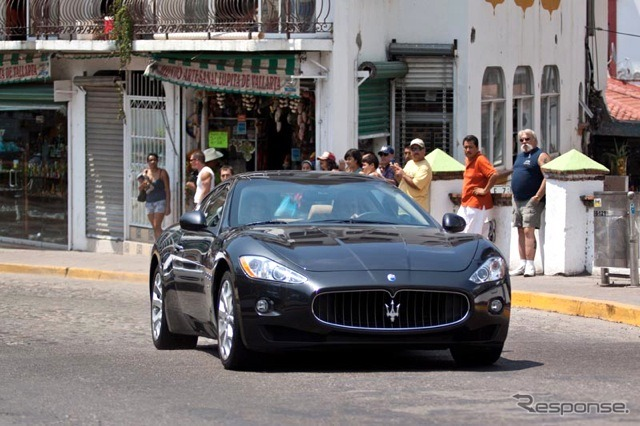 During the filming of the Maserati GranTurismo