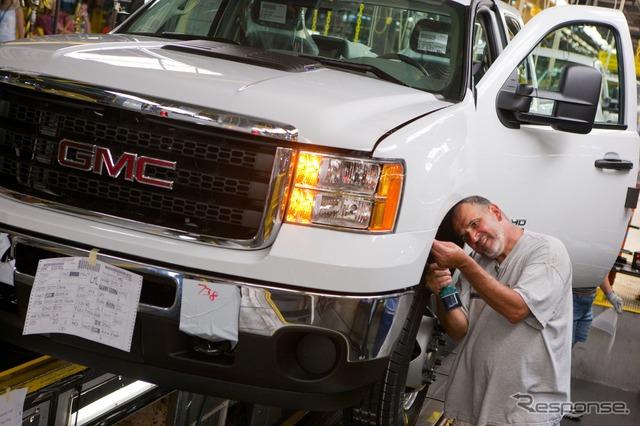 โรงงานหินเหล็กไฟ Michigan (gmt)ผลิต heavy-duty ปิคอัพรถบรรทุก