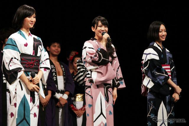 """Perfume movie """"cars 2"""" Japan premiere, yukata and Tomomitsu Yamaguchi has appeared"""