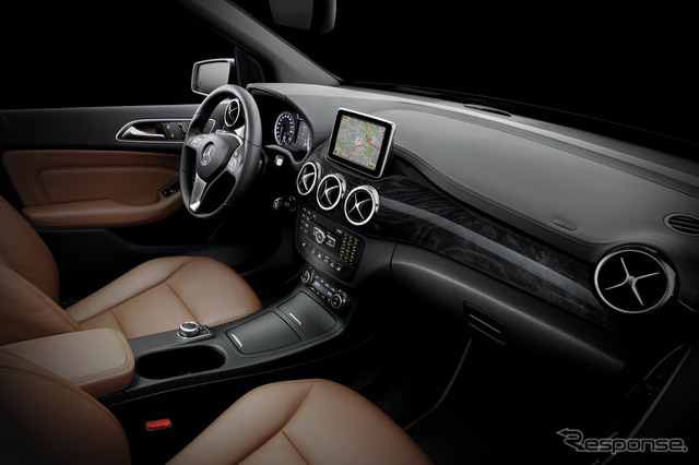 Interior of the new Mercedes-Benz B class