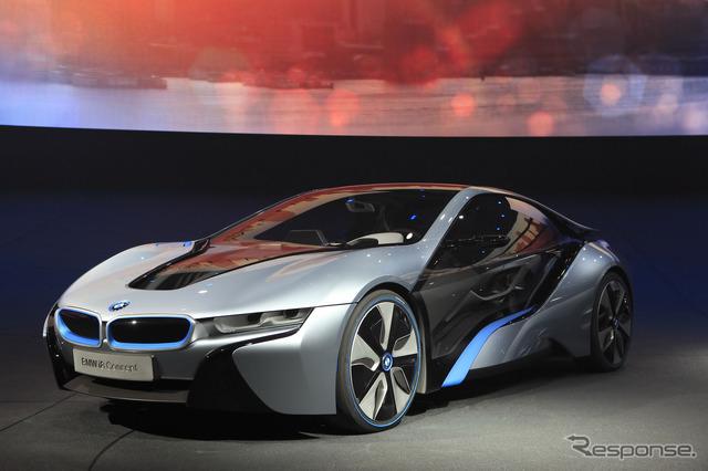 """I"" brand BMW's plug-in hybrid sports, i8 concept"