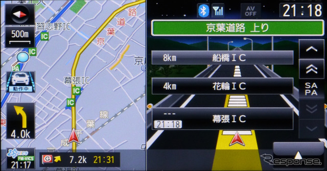 That displays the icon indicating that when entering the highway lane assist feature is working on the left side