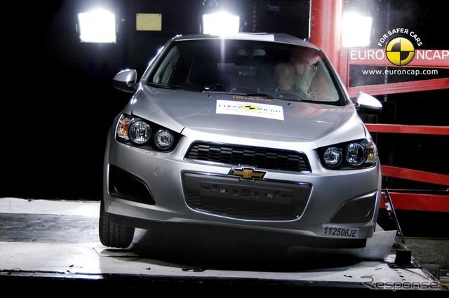เชฟโรเลตโซนิค ยูโร NCAP ของสูงสุดคะแนนสูงสุดห้าดาว