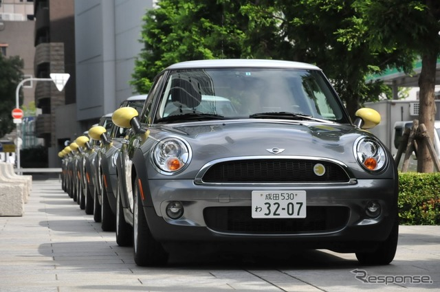 Starts the second stage of the MINI E demonstration experiment For general users passing ceremony was held in Osaka, 31,