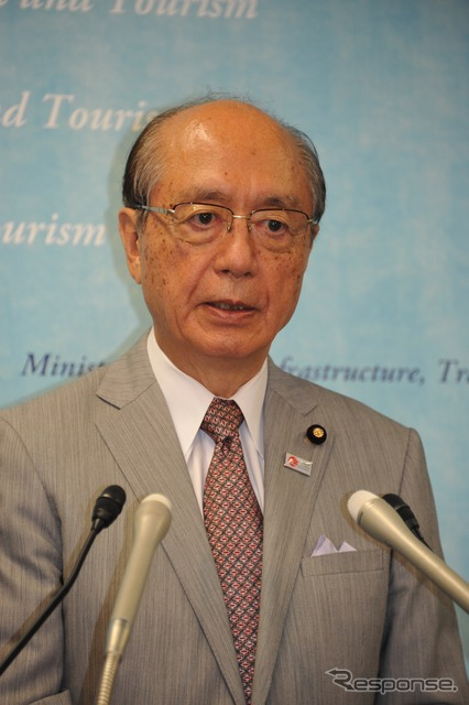 Maeda Takeshi's newly appointed Minister of transport