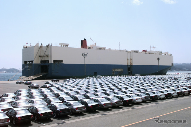 Auto exports after the quake first plus (reference image)