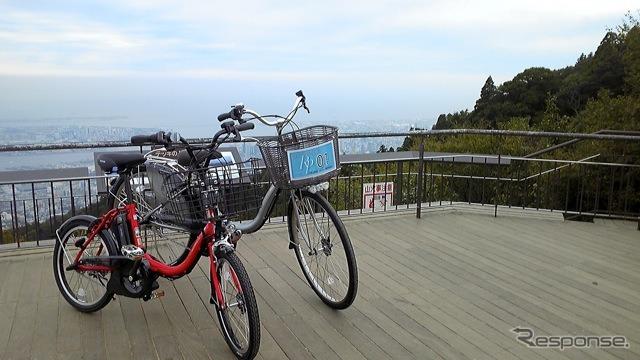 神戸摩耶の観光にヤマハ PAS