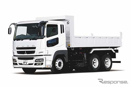"""Mitsubishi Fuso heavy-duty trucks """"Super harga"""" dump"""