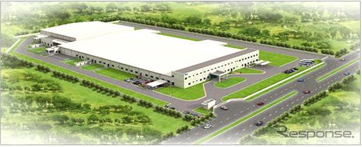 ジェイテクトのインド新工場完成予想図