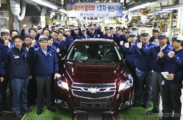 มาลีบูเชฟโรเลตใหม่เริ่มผลิตในประเทศเกาหลี