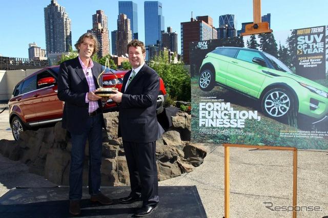 """แนวโน้มสหรัฐ 'เครื่องแบบ' นิตยสาร """"2012 crew Solver (SUV)"""" รางวัลช่วงโรเวอร์イヴォーク"""