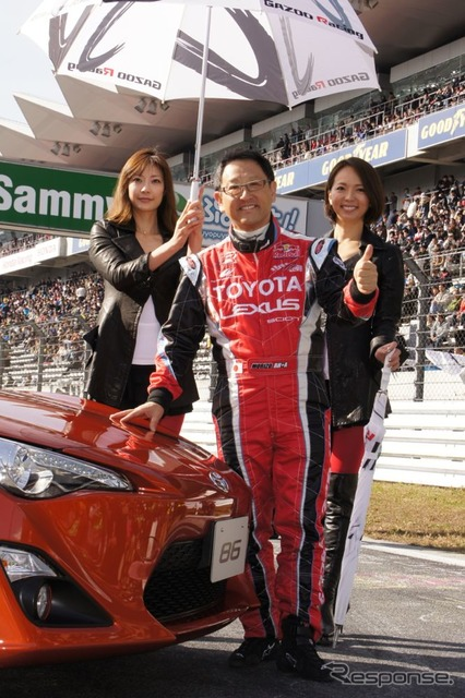 Toyota Akio President appeared in the premiere stage new FR sports, Toyota 86