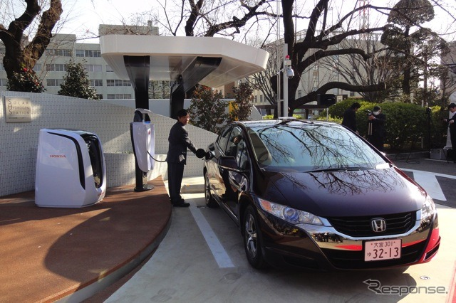 Solar hydrogen station & the FCX Clarity
