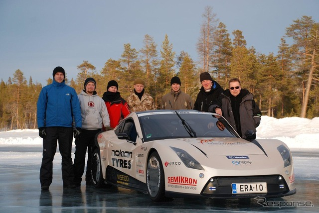 ノキアン tires Finland EV by E-RA on ice top speed challenge
