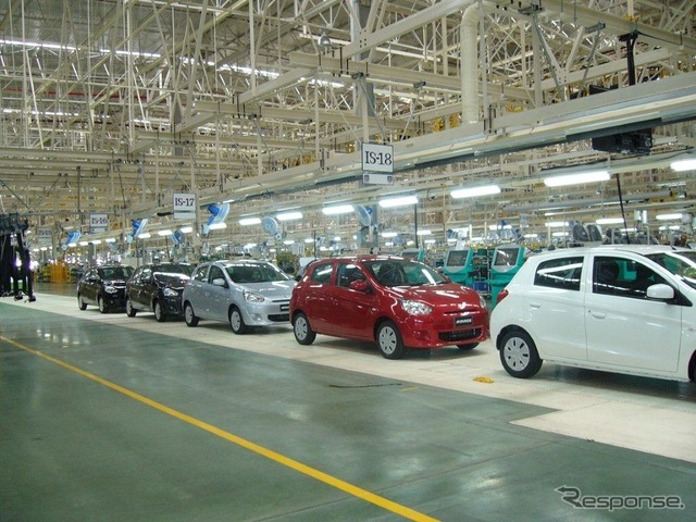 Mitsubishi's new factory in Thailand