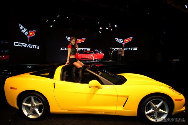 การนำเสนอเกาหลี Corvette เชฟโรเลต