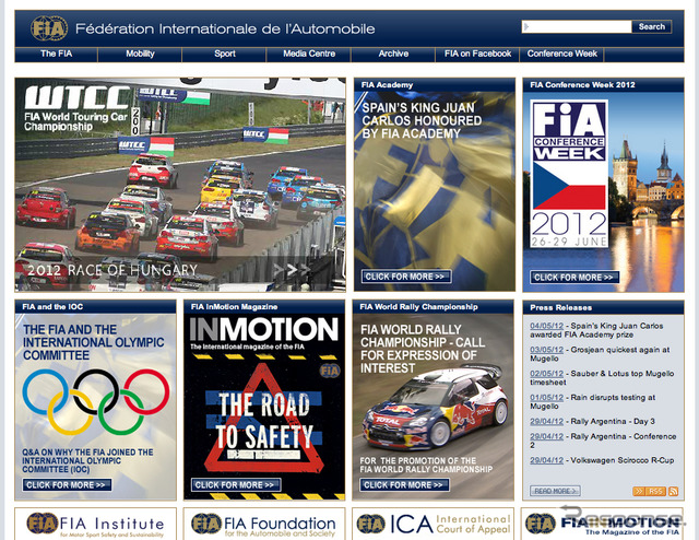 FIA website Links to the frequently asked questions page about the IOC member is installed in the bottom left