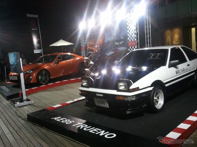 86 Toyota with original AE86 Fujiwara Longlife silken tofu shop specifications