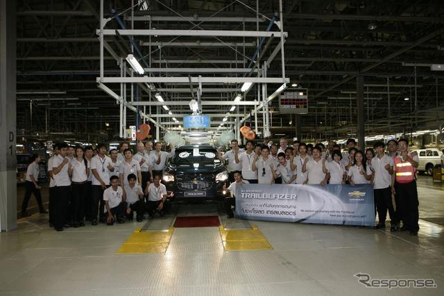 ใหม่เชฟโรเลต TrailBlazer, 7 โรงงานในประเทศไทย(gmt)เริ่มต้นการผลิต
