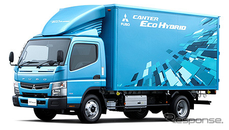 Mitsubishi Fuso Canter Eco Hybrid exhibited at the 2011 Tokyo Motor Show