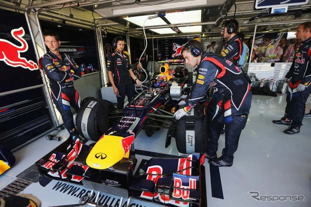 Tyre wear and wait for the race Red Bull machine ( 2012-European GP )