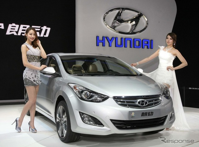 Hyundai Elantra China specifications (Beijing motor show 12)
