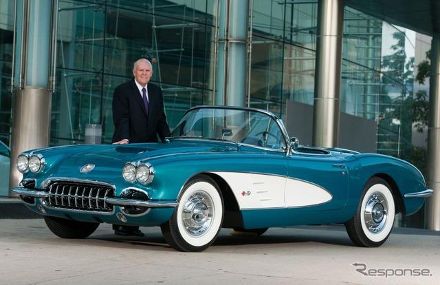 1958 รถของเขา และ Dan akerson ประธาน และประธานเจ้าหน้าที่ บริหาร, (gmt)ของ Corvette สูตร