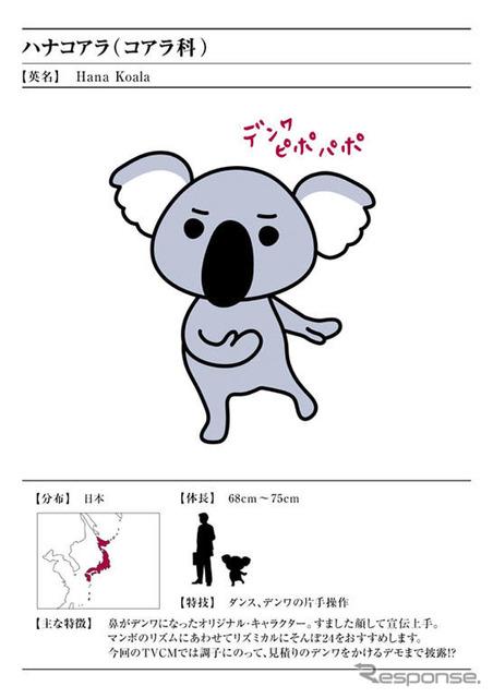 ハナコアラ character of そんぽ 24