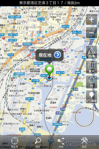 iPhone application, mapion maps