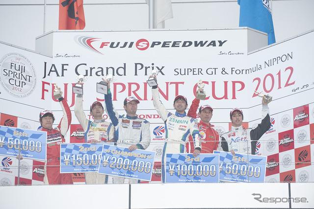 Fuji Sprint Cup ตเทิลเรเซอส์ 12 virtures เล่น Hiraoka ประธาน (กลาง)