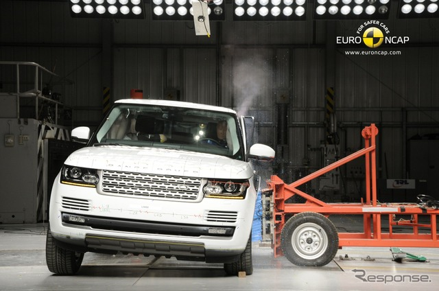 ทดสอบล้มเหลว Euro NCAP ช่วงใหม่โรเวอร์ช่วงโรเวอร์ Vogue (ชื่อญี่ปุ่น)