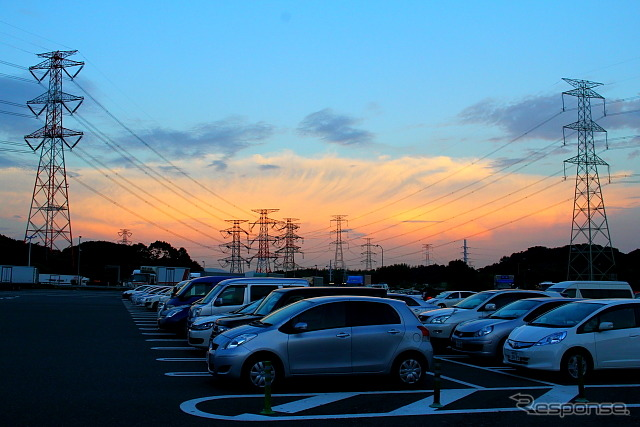 Kyushu car road Kiyama PA (reference image)