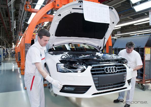 ผลิตในโรงงานเยอรมนี Ingolstadt สำหรับออดี้ A4