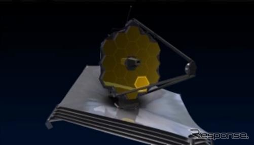 Chapter 3 of the Webb space telescope mirror (video capture)
