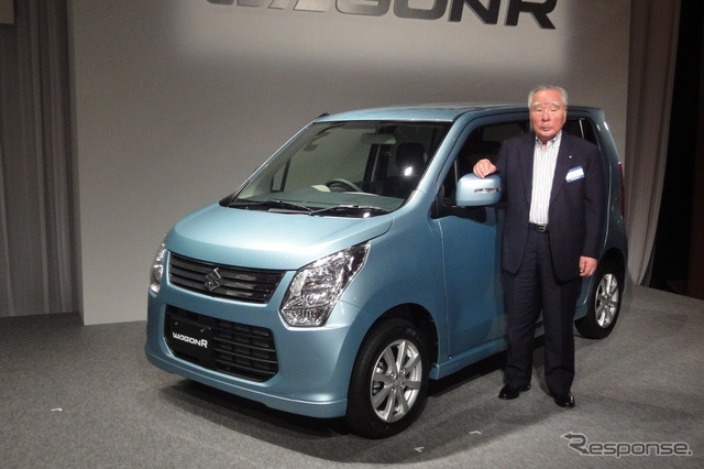 Wagon R and Suzuki Chairman and President Osamu Suzuki