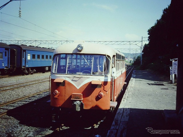 Noheji station was running at about 30 years ago when railbus