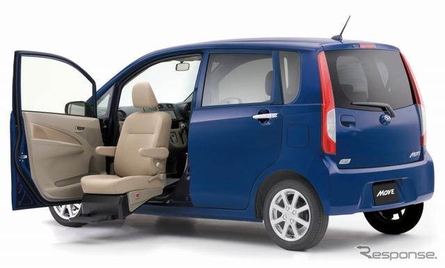 Daihatsu Move front seat lift
