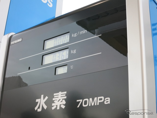Gas station turbine hydrogen station opened in the 4/19 Japan's first