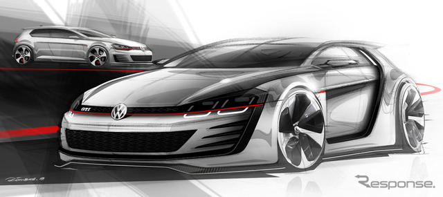 GTI VW design vision notice sketches